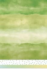 12 x 12 Decorative Paper Watercolor Wishes Emerald