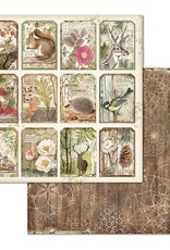 Stamperia 12 x 12 Decorative Paper Forest Tags