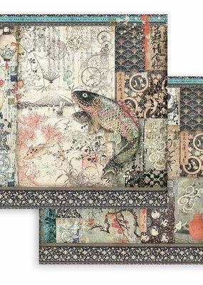 Stamperia 12 x 12 Decorative Paper Mechanical Fish