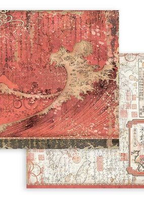 Stamperia 12 x 12 Decorative Paper Red Texture