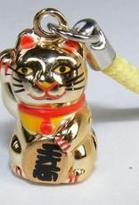 Bell Charm Golden Maneki Cat