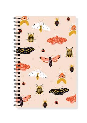 Fringe Journal Spiral Bound Moths Lined