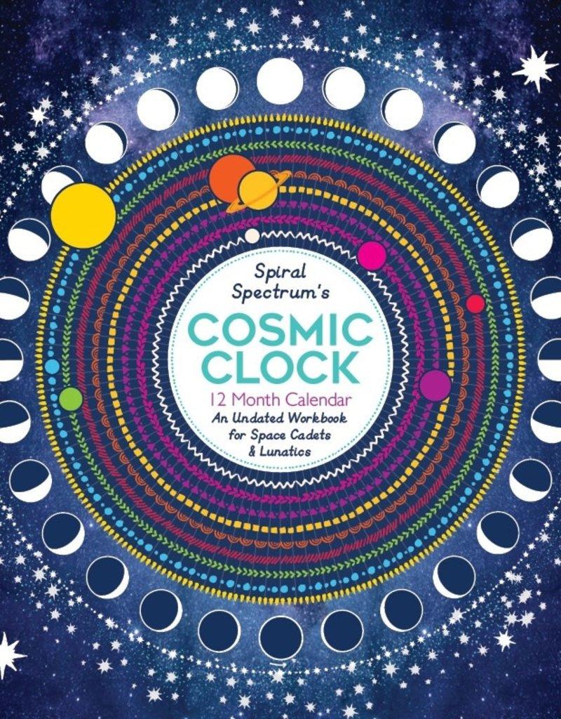 Spiral Spectrum Cosmic Clock Undated 12 Month Astrology Calendar