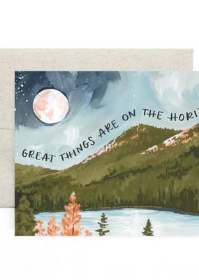 1 Canoe 2 Card Alpine Moon Horizon