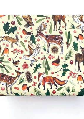 Alexia Claire Ltd. Wrapping Paper Sheet Christmas Woodland