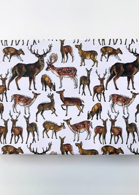 Alexia Claire Ltd. Wrapping Paper Sheet Deer of Britain