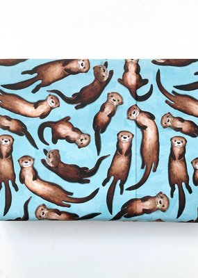 Alexia Claire Ltd. Wrapping Paper Sheet Otters