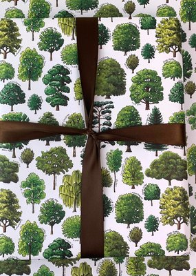 Alexia Claire Ltd. Wrapping Paper Sheet Trees of Britain