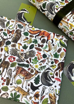 Alexia Claire Ltd. Wrapping Paper & Tag Set Woodland Animals