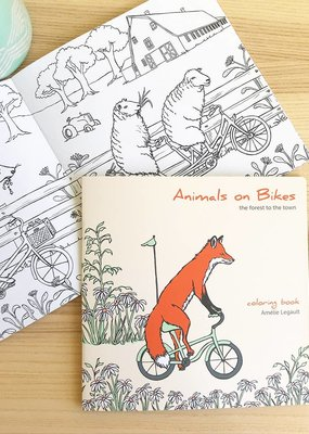Amelie Legault Coloring Book Animals on Bikes