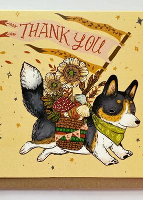 Marika Paz Card Thank You Corgi