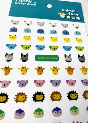 Stickers Animal Faces