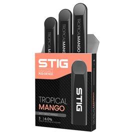 VGOD Vgod -Stig AIO Disposable Salt Nic 6% Pod-Tropical Mango -Priced Per Stig