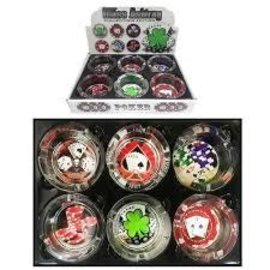 Collectors Edition Glass Ashtrays-Poker Collection-Assorted