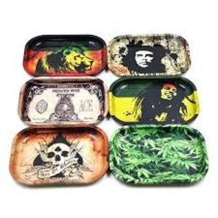 Metal Tobacco Rolling Tray -Assorted