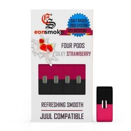 Eonsmoke Eonsmoke Prefilled Nic Salt- Juul Pods- Silky Strawberry 4%
