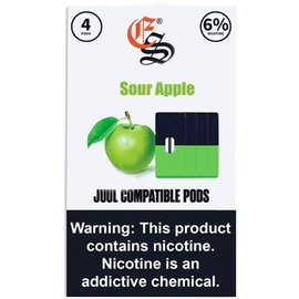 Eonsmoke Eonsmoke Prefilled Nic Salt- Juul Pods- Sour Apple 6%
