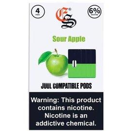 Eonsmoke Eonsmoke Prefilled Nic Salt- Juul Pods- Sour Apple 6%