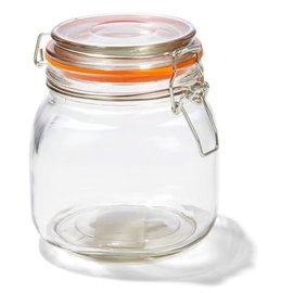 4oz Glass Jar WIth Airtight Lids and Leak Proof Rubber Gasket