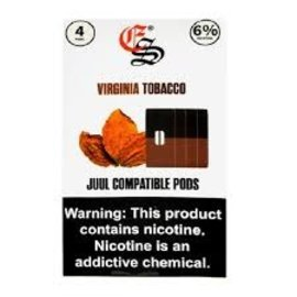 Eonsmoke Eonsmoke Prefilled Nic Salt- Juul Pods- Virginia Tobacco 6%