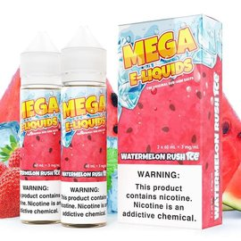 Mega Eliquid Box of 2 Mega Watermelon Rush Ice 3mg 120ml