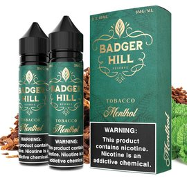 Badger Hill Box of 2 Badger Hill - Tobacco Menthol 3mg 120ml