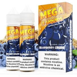 Mega Eliquid Box of 2 Mega Blueberry Crumb 3mg 120ml