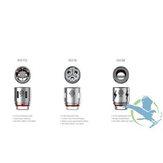 SMOK SMOK TFV12 Tank Replacement Coils - V12 - Q4 (0.15ohm) - per coil