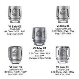 SMOK Smok TFV8 Baby coils V8 Baby X4 core .15Ohm-Priced Per coil