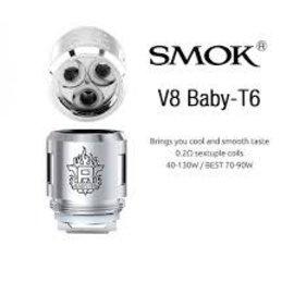 SMOK SMOK TFV8 Baby Coils  V8 BABY - T6 Core .2 ohm  - per coil