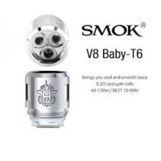 SMOK - SMOK TFV8 Baby Coils V8 BABY - T6 Core  2 ohm - per coil