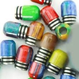 Resin 510 Resin Drip Tip -Style 109 -Red/Blue