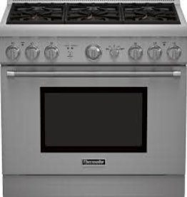 """Thermador Thermador 36"""" Freestanding LP Gas Range Stainless"""