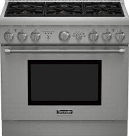 "Thermador Thermador 36"" Slide-In Convection Dual Fuel Range Stainless"