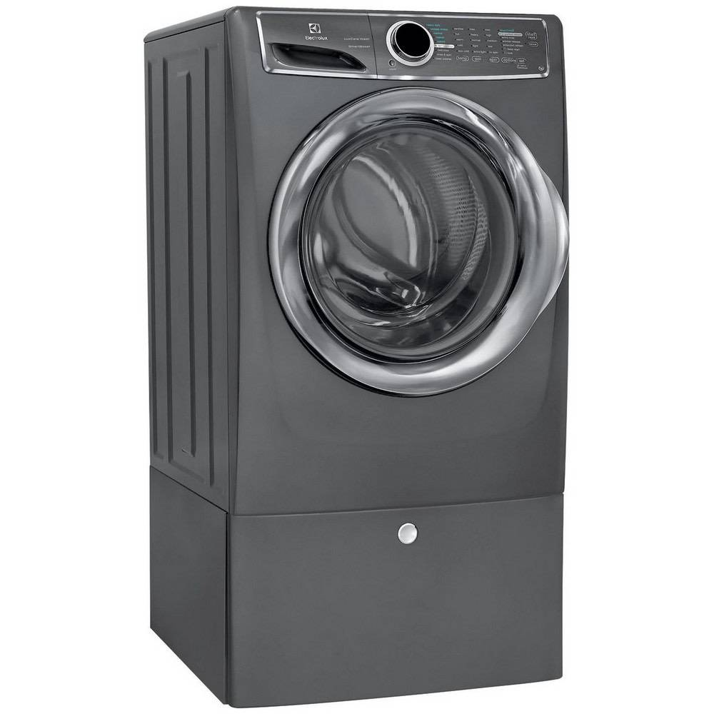 Electrolux Electrolux 4.4 Steam Front Load Washer w/ Pedestal Titanium