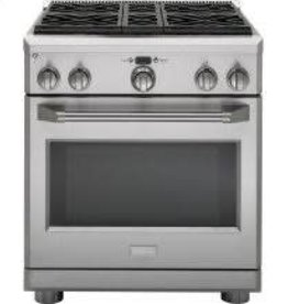 "GE GE Monogram 36"" Slide-In Convection Gas Range Stainless"
