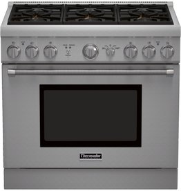 """Thermador Thermador 36"""" Freestanding Convection Gas Range Stainless"""