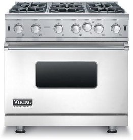 "Viking Viking 36"" Slide-In Convection Gas Range Stainless"
