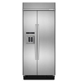 """KitchenAid Kitchenaid 36"""" 20.8 Built-In SxS Refrigerator Stainless"""