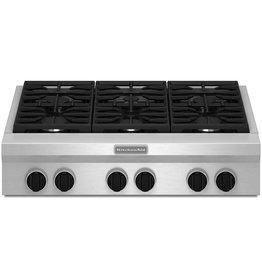 """KitchenAid Kitchenaid 36"""" Gas Rangetop Stainless"""