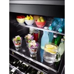 """KitchenAid Kitchenaid 24"""" Built-In Beverage Center Black Stainless"""