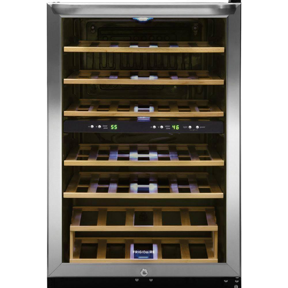 Frigidaire Frigidaire 38 Bottle Dual Zone Wine Cooler Stainless