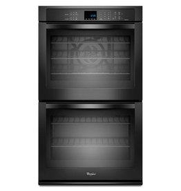 """Whirlpool Whirlpool 30"""" Convection Double Wall Oven Black"""