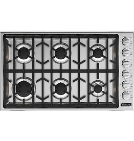 "Viking Viking 36"" Gas Cooktop Stainless"