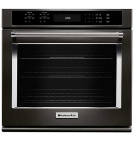 "KitchenAid Kitchenaid 27"" Convection Wall Oven Black Stainless"