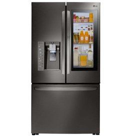 LG LG 23.5 Counter Depth French Door Refrigerator Black Stainless