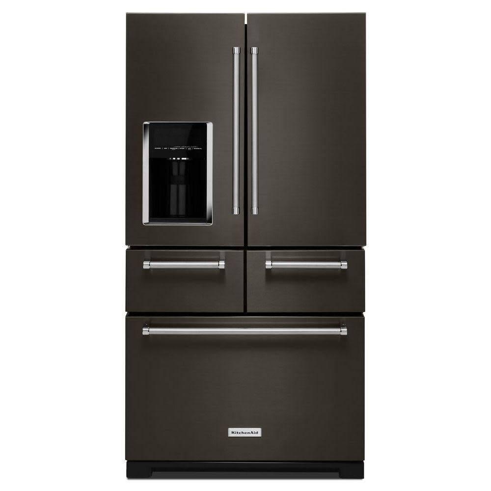 KitchenAid KitchenAid 25.8 French Door Refrigerator Black Stainless