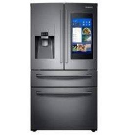 Samsung Samsung 27.7 Family Hub French Door Refrigerator Black Stainless
