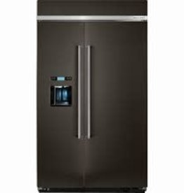 "Kitchenaid 48"" 29.5 Built-In SxS Refrigerator Black Stainless"