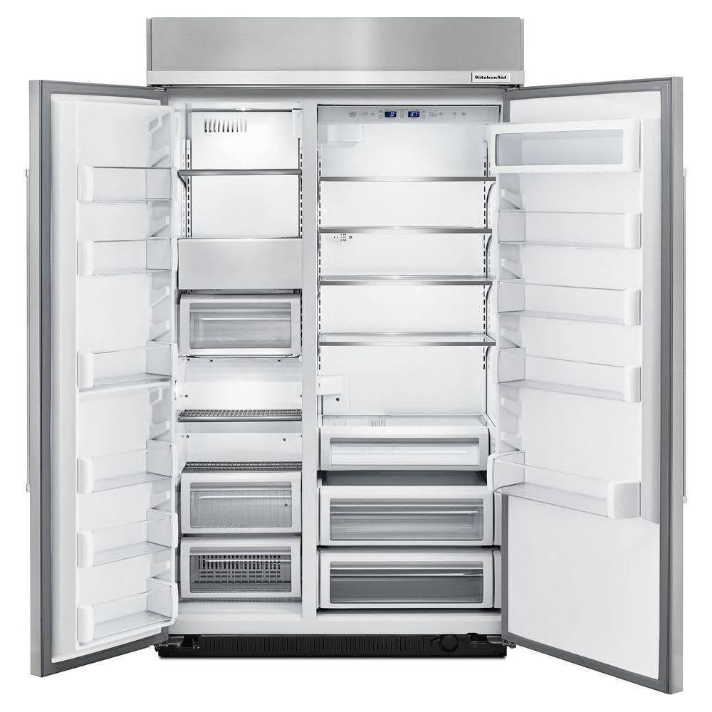"KitchenAid Kitchenaid 48"" 30.0 Built-In SxS Refrigerator Panel Ready"